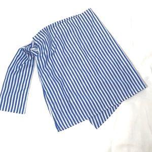 Wrap style stripe skirt zip back tie M